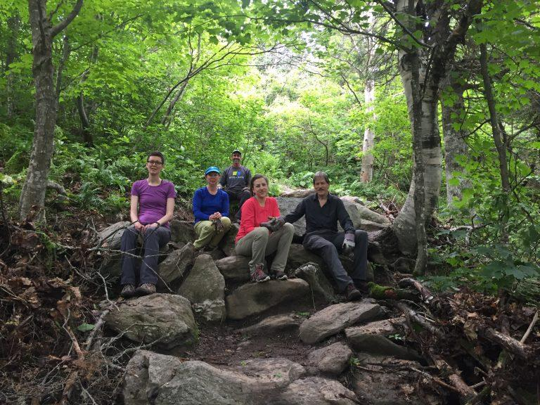 Group doing trail maintenance