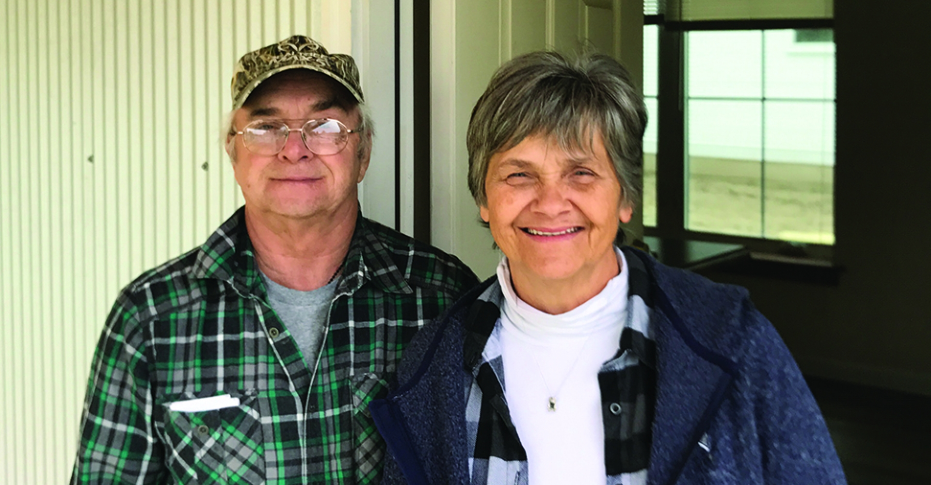 Bill and Pauline Boyce rent a ZEM home at Evergreen Manor in Hardwick