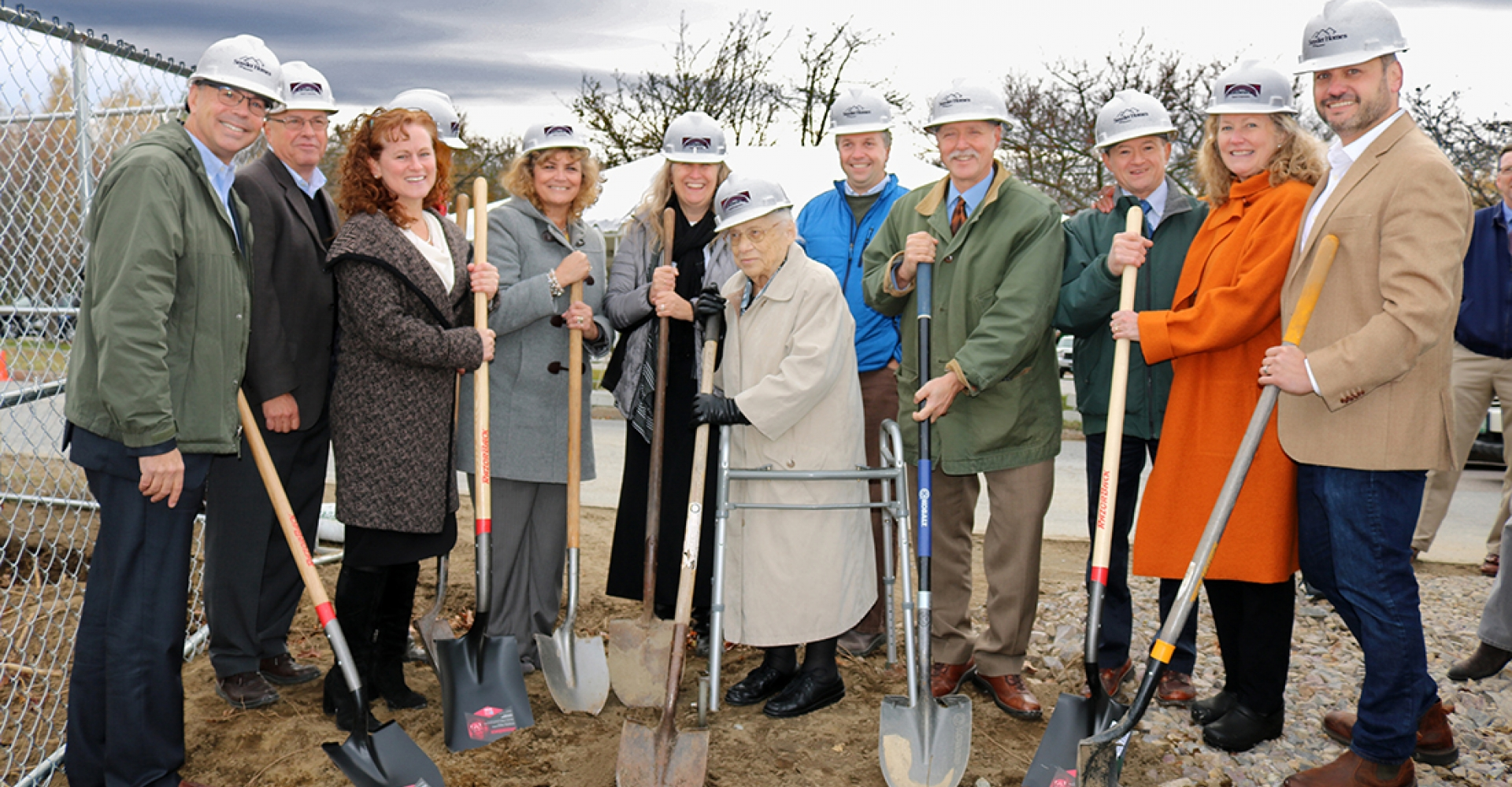Ground Breaking for Allard Square, 39 apartments for seniors being developed by Cathedral Square Corporation in South Burlington