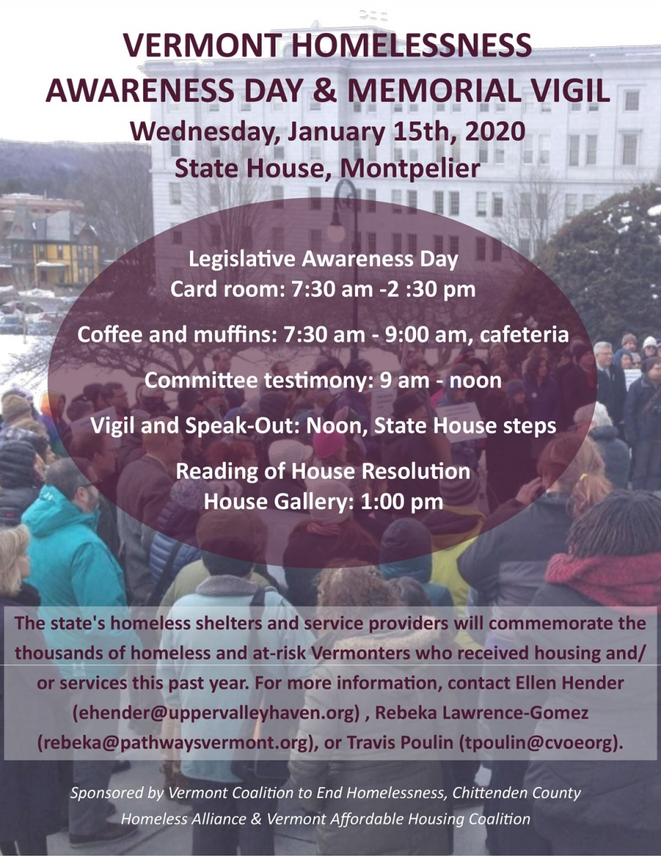 Homeless Awareness Day & Vigil