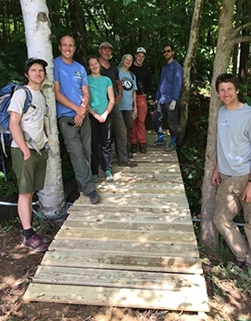 bridge building at Richmond Mountain Trails