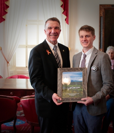 Luke with Governor Phil Scott