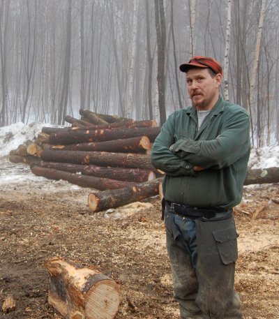 Viability Participant Jon Parker of Brookside Timber Harvesting in Westminster, VT.